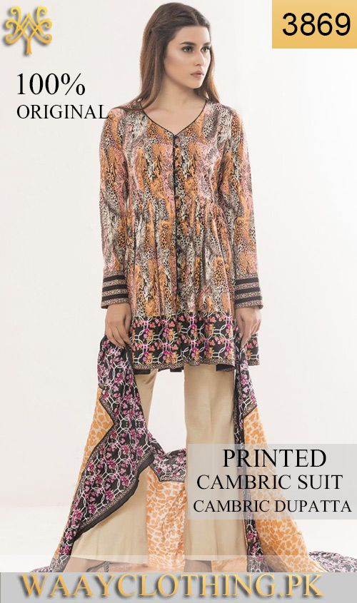 WYSC 3869   PRINTED ORIGINIAL 3PC CAMBRIC SUIT With CAMBRIC