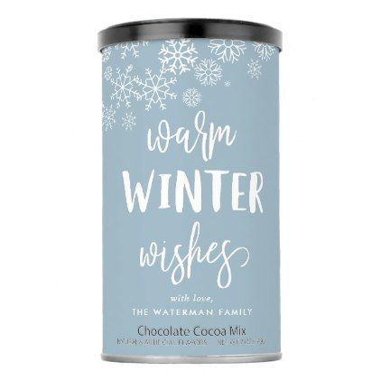 Warm Winter Wishes   Personalized Christmas Hot Chocolate Drink Mix    Warm Winter Wishes   Personalized Christmas Hot Chocolate Drink Mix - winter gifts style special unique gift ideas