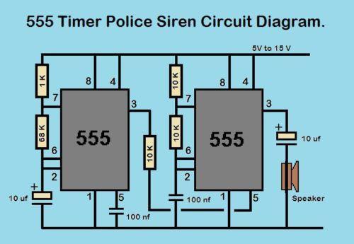Pleasing Details About 555 Timer Police Siren Circuit Kit Basic Electronics Wiring Digital Resources Instshebarightsorg