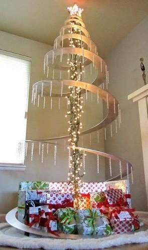 Rbol de navidad en espiral altura entre y mt for Adornos navidenos mercadolibre