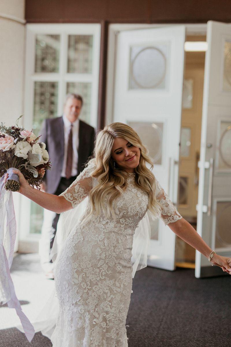 modest wedding dress with half sleeves from alta moda. -- (modest ...