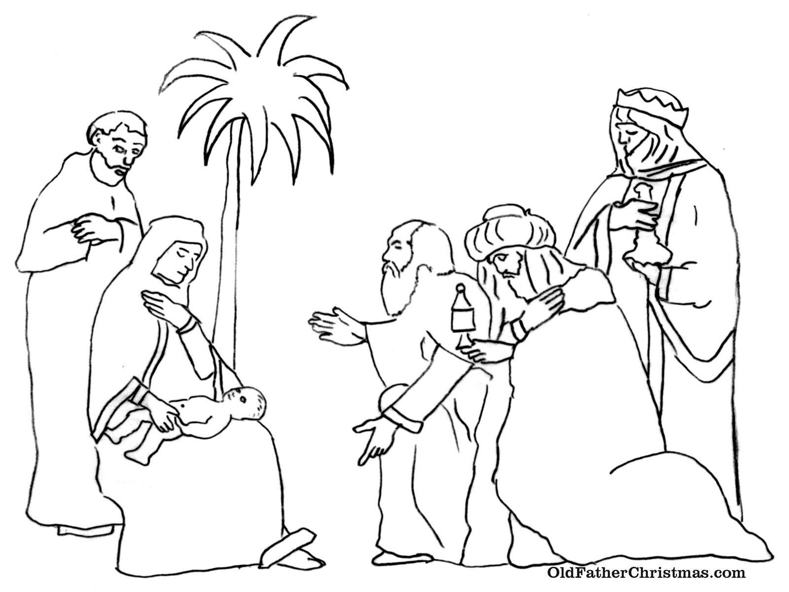 Three Kings Day Coloring Pages Los Tres Reyes Magos Epiphany