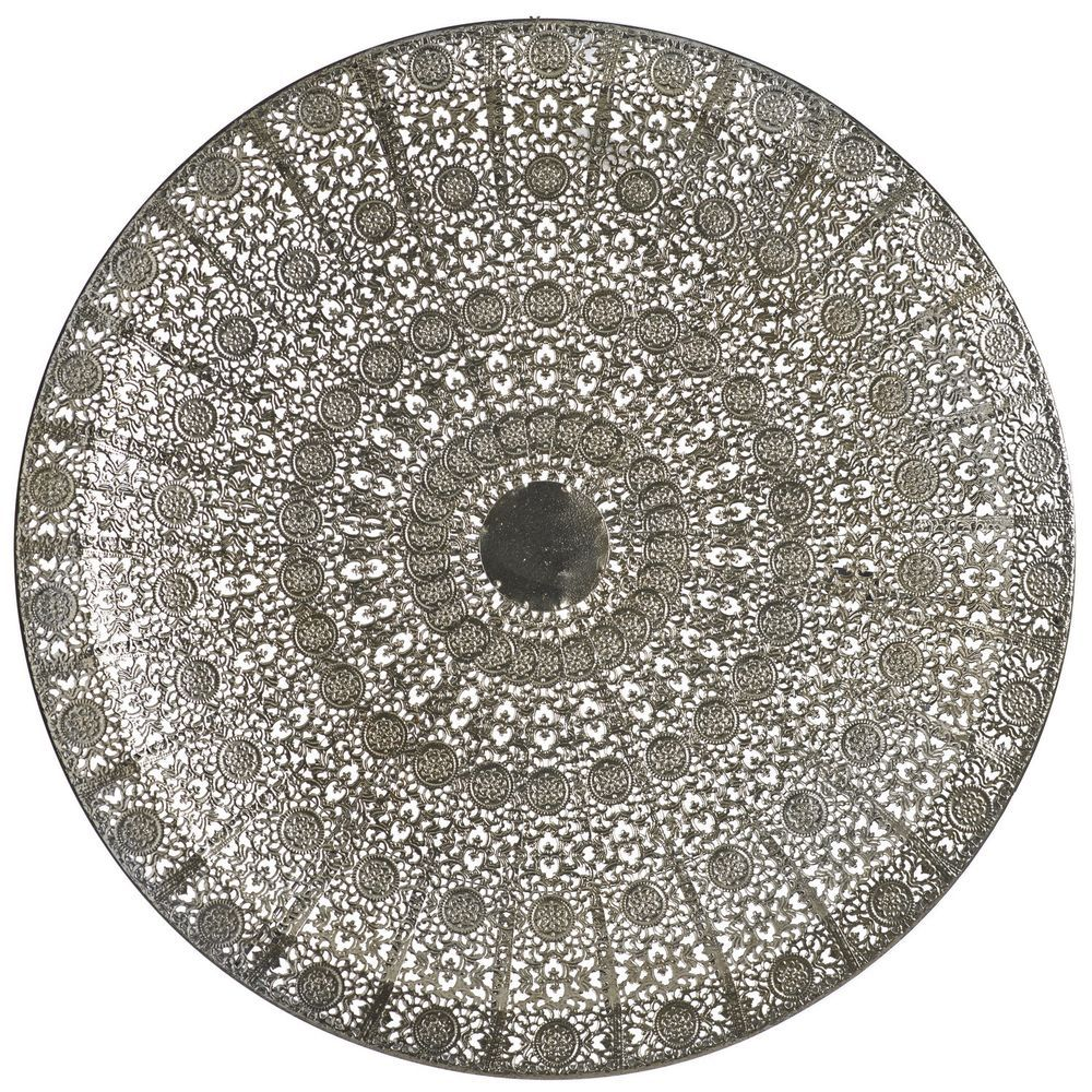 Details About Vintage Silver Moroccan Plate Wall Art Deco
