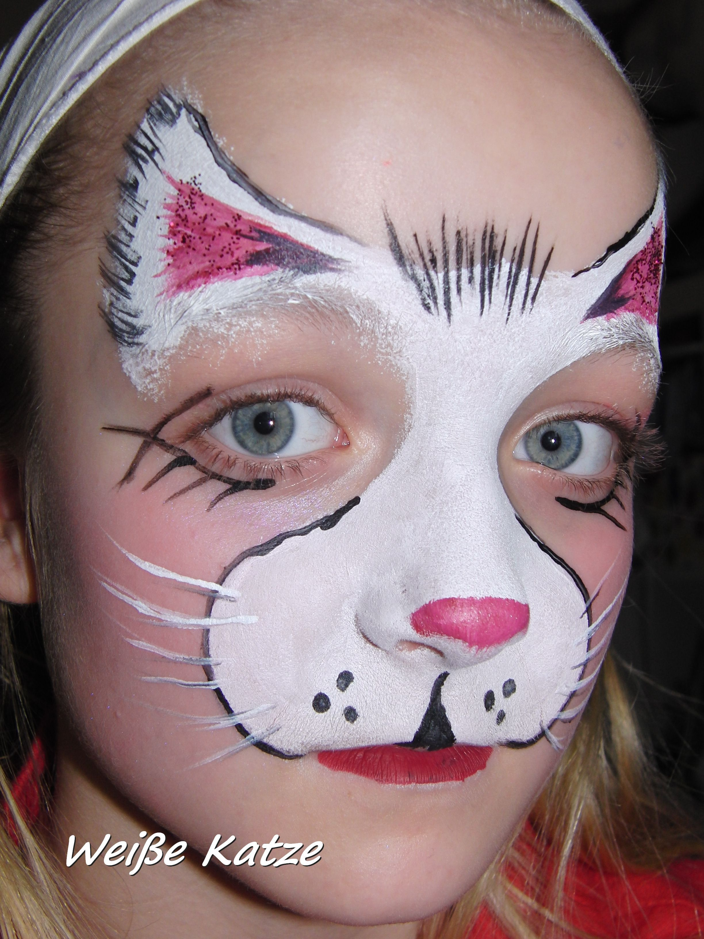 Face painting white cat face painting tiger face