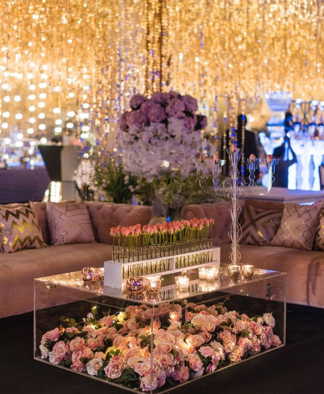 Latest wedding decor ideas  Love the centre table Off white flowers would do it for me  My
