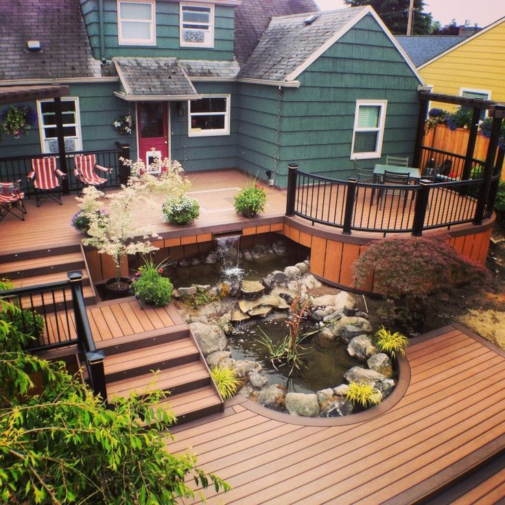 20 Insanely Cool Multi Level Deck Ideas For Your Home Patio Deck Designs Backyard Layout Backyard Patio