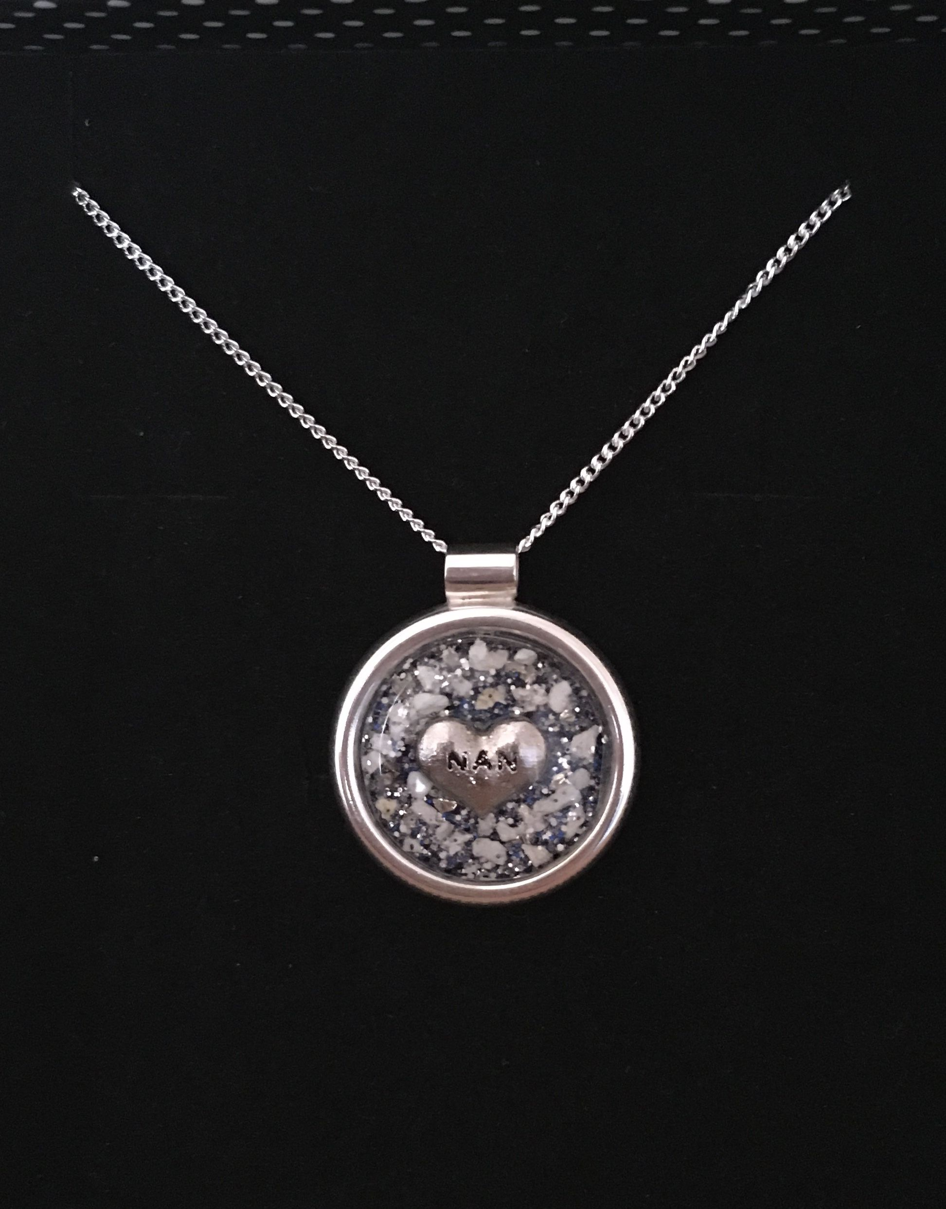 Cremation Ashes Sterling Silver Paw Print Pendant Pet Memorial Memorial Pendant Cremation Ashes Jewellery Resin Necklace