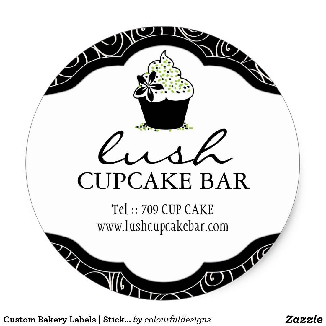 Custom bakery labels stickers baking party bakeries sticker design label bakery