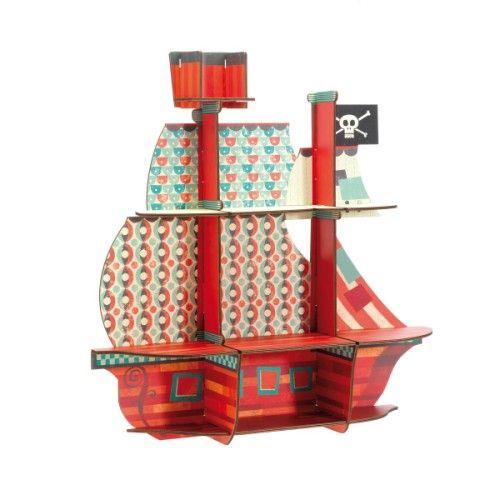 Étagère carton - bateau
