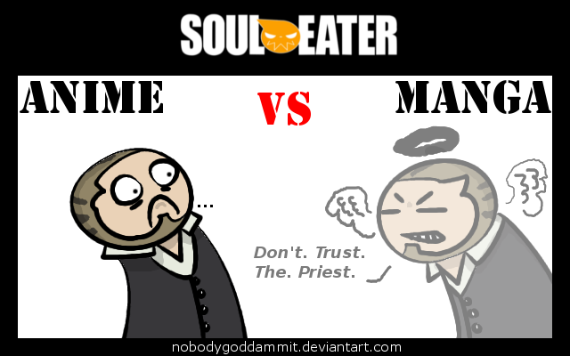 Soul Eater Anime vs. Manga : BJ by nobodygoddammit.deviantart.com on @DeviantArt