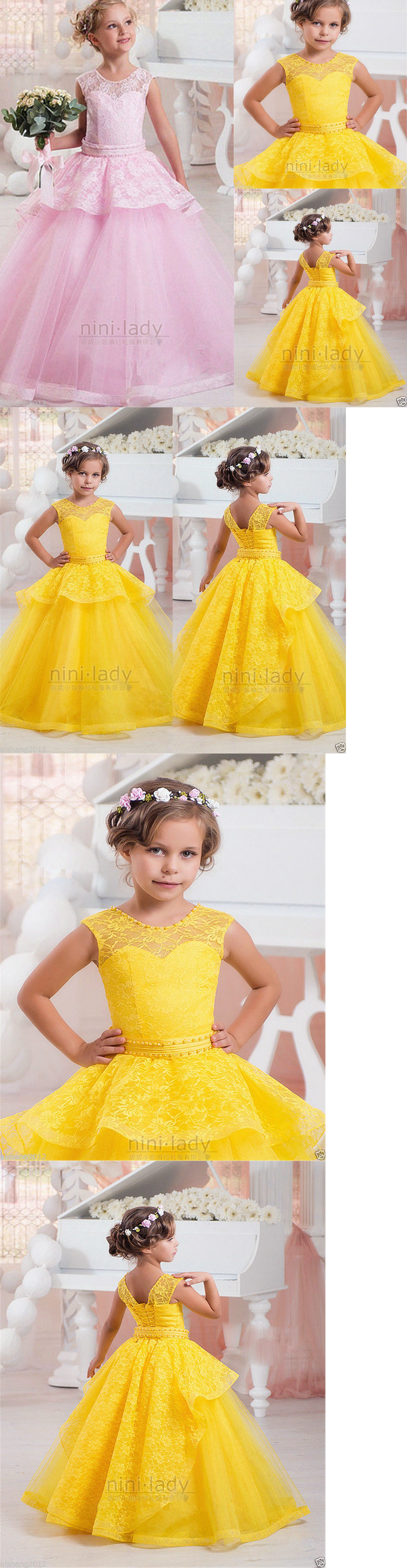 Girls formal occasion new flower girl dress communion party