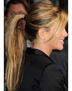 Jennifer Aniston with her Emi-Jay hair tie in Black Pearl.  www.epicdayspa.com 0ad49d6d758