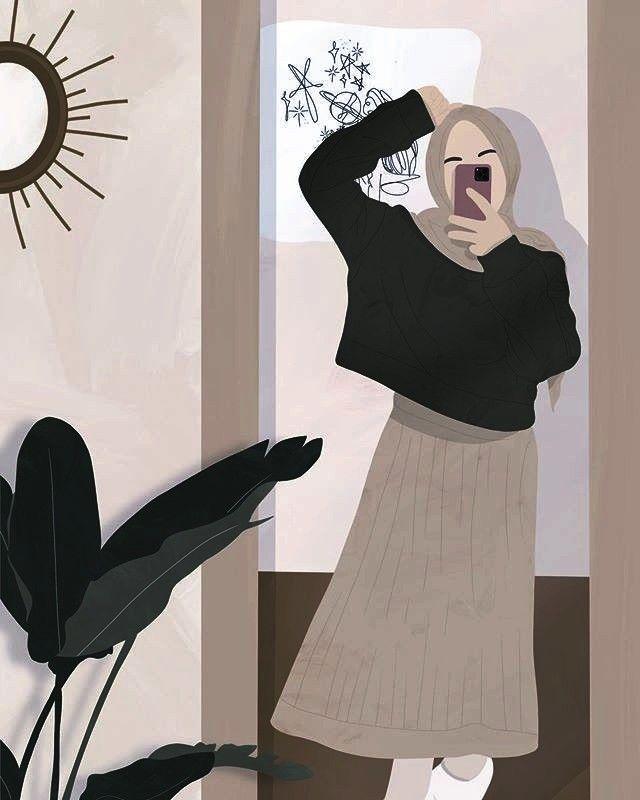 Pin By Devia Ananda On Hijab Anime Hijab Cartoon Illustration Girl Illustration Art Girl