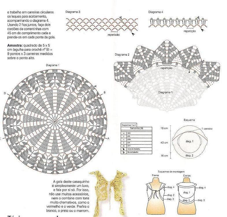 Patron de chaleco redondo a crochet - Imagui | chaleco circular ...