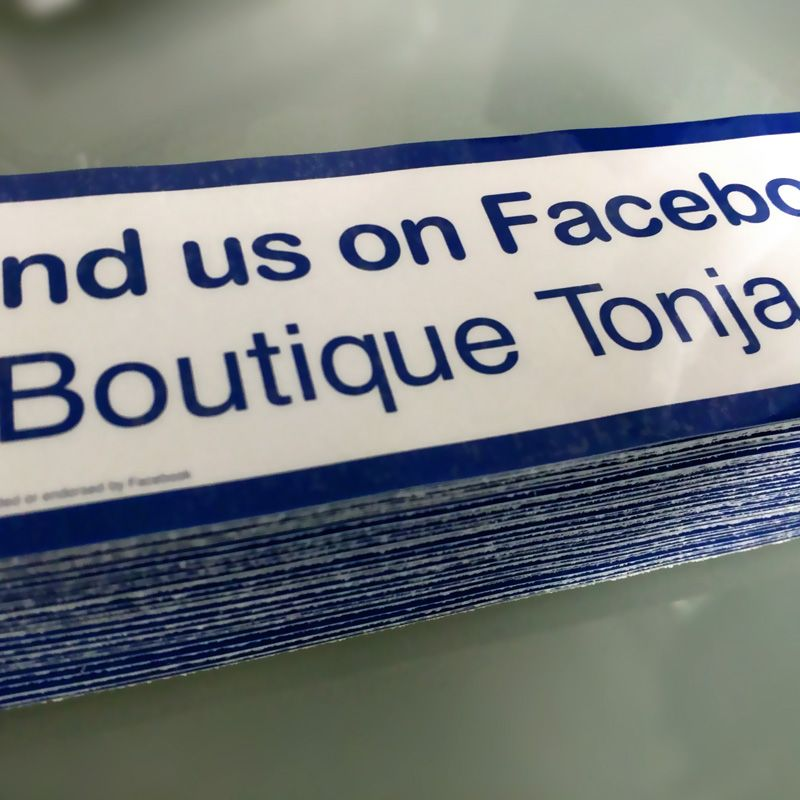 Heres a stack of 200 standard stickers for facebook with custom username url from http