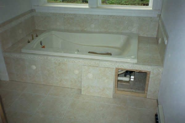 Garden Tub Tile Ideas Re Tile Or Wood For Tub Surround