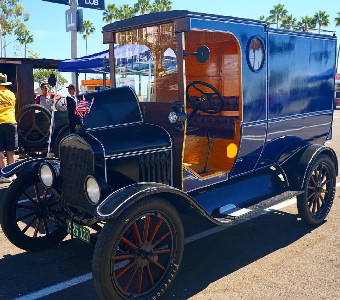 1918 Model T Ford Truck Few Early Roads Were Paved All Cars Had