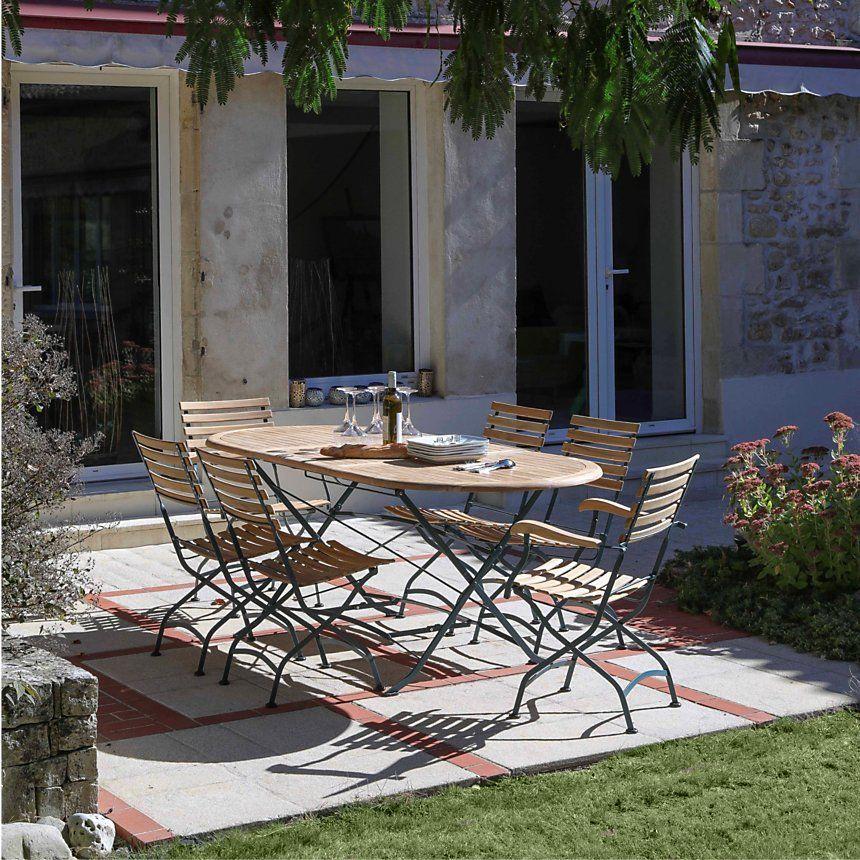 Table #ovale #pliante de dimensions 150/210 x 76 x 90 cm ...