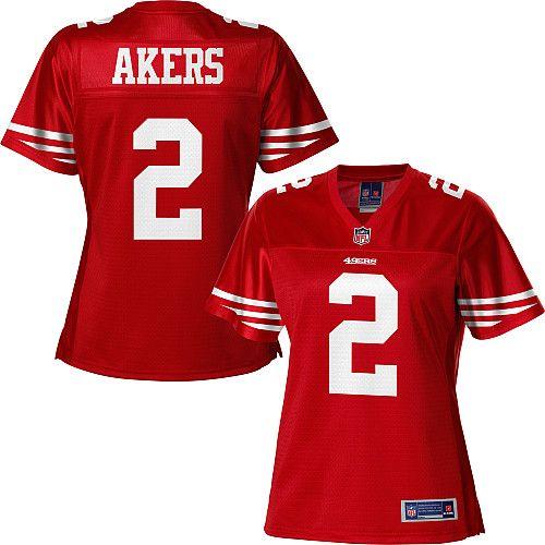 brand new bb901 14cb1 Women's Pro Line San Francisco 49ers David Akers Team Color ...