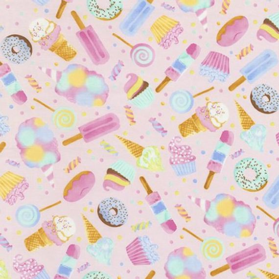 Donuts Fabric Timeless Treasure sweets candy BY Half Yard cake