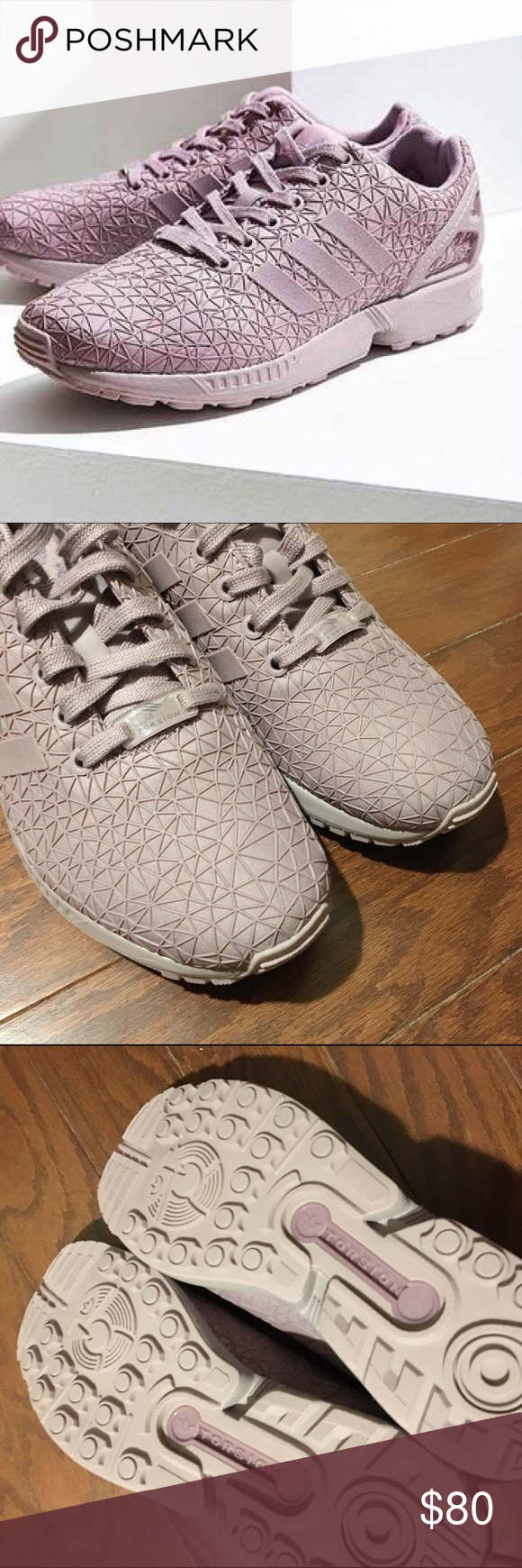 Adidas ZX Flux Lavender Sneaker Never worn before, slightly
