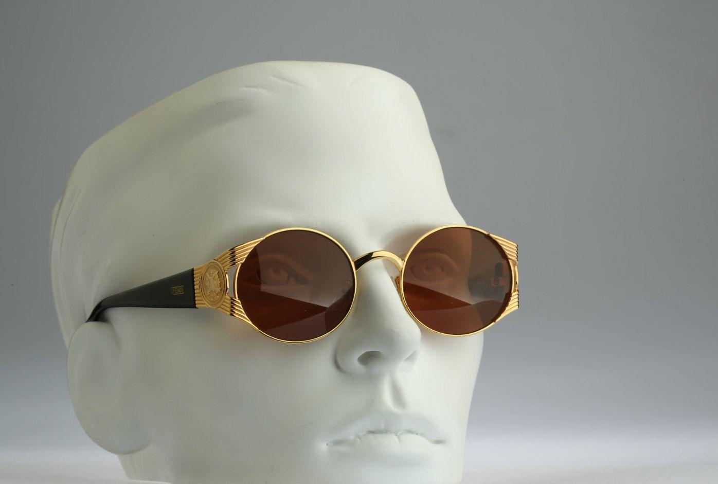 131f7c2ca76 Fendi FS 240   90s Vintage sunglasses   NOS   Stunning round shade by  CarettaVintage on Etsy