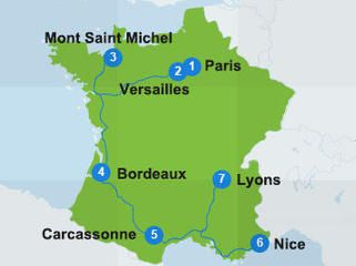 Map With Itinerary Route In France Paris Is Always A Good Idea - Top 5 biggest rivers in the world