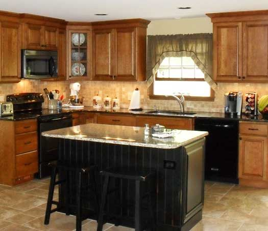 Kitchen Remodel With Island In Exeter, RI. Designed By Coventry Lumber In  Coventry,