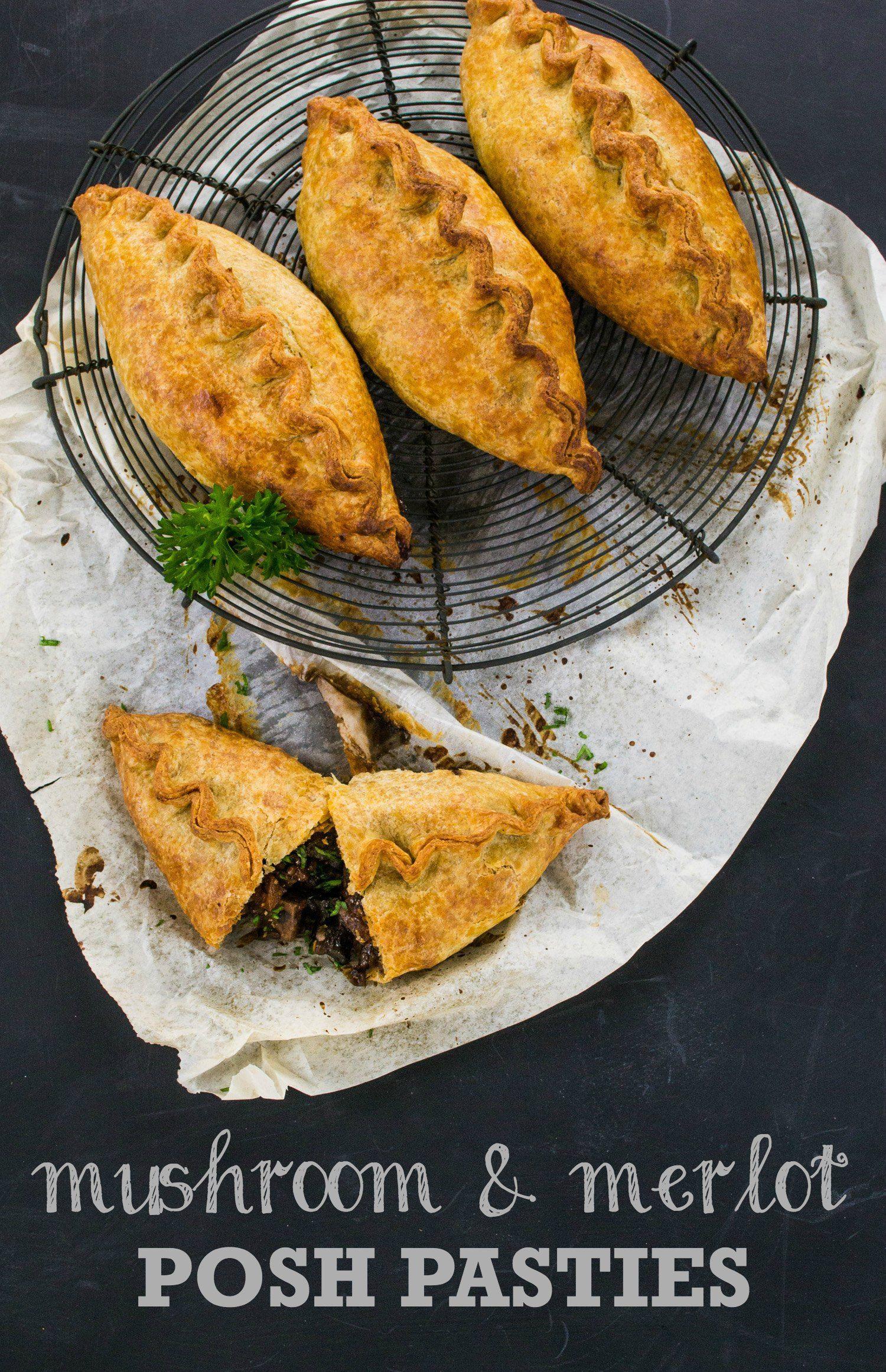 Recipe Mushroom Merlot Posh Pasties The Veg Space Recipes Easy Cooking Recipes Vegan Comfort Food
