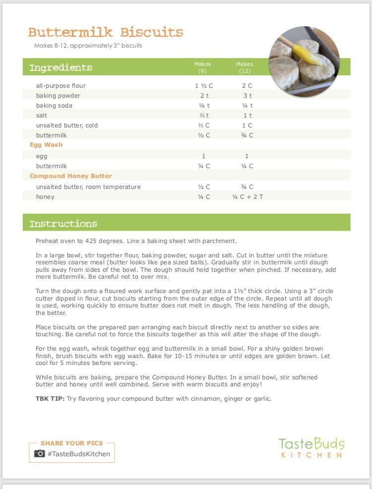 Taste Buds Kitchen Southlake Tx Buttermilk Biscuits Honey