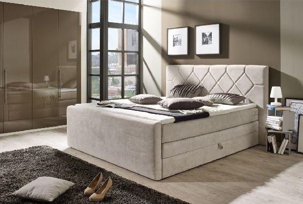 Phill Hill Boxspringbett TWIN 2 Stoffbezug Grau #Schlafzimmer ...
