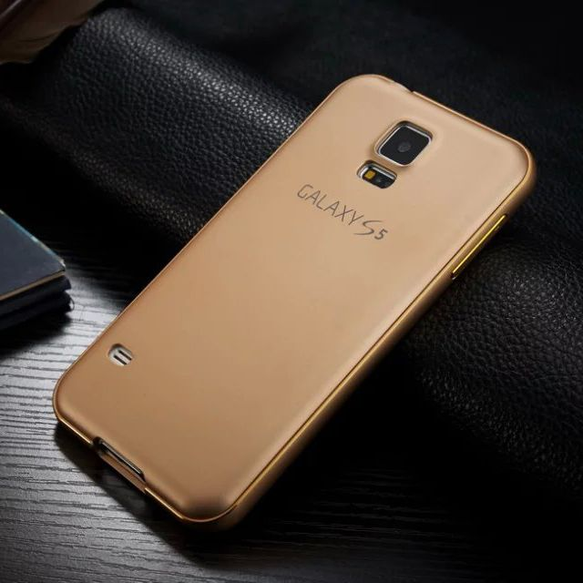 For Galaxy S5 Ultrathin Frosted 3D Baking Varnish Aluminum Metal Cover Case For Samsung Galaxy S5 i9600 Phone Cases Accessories