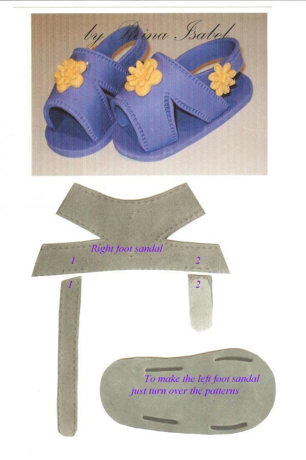Sandalias con patrones | Patrones y tutoriales fofuchas | Bebe ...