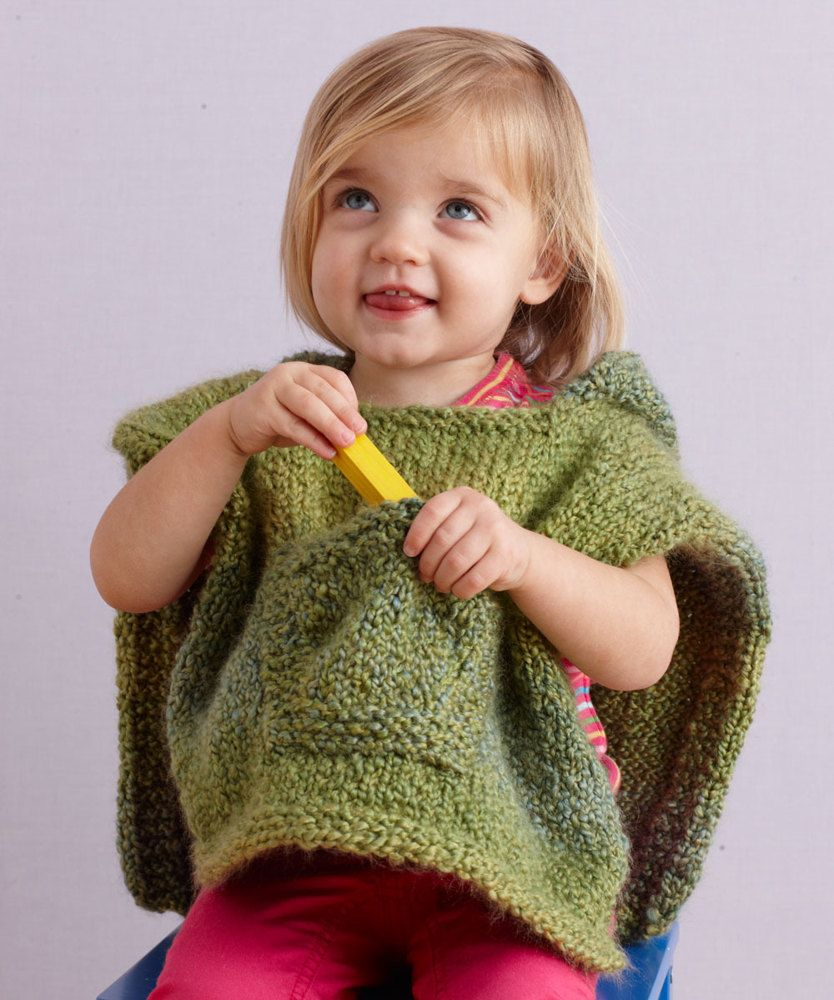 Hooded Baby Poncho in Lion Brand Homespun - 70358B. Discover more ...