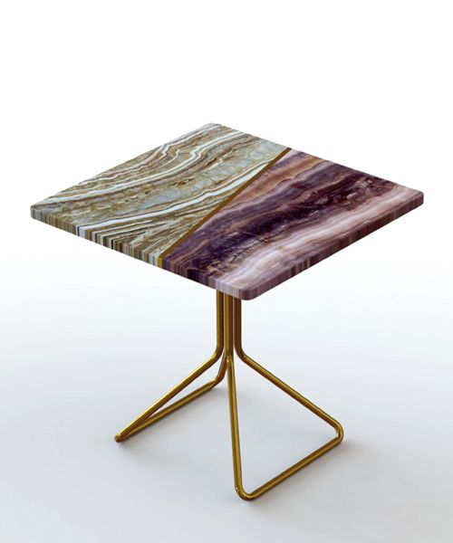 Francesco Meda S Split Marble Table Reveals The Material S Intricate Layers Furniture Side Tables Marble Furniture Furniture