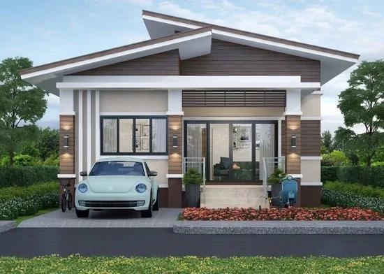Desain Rumah Minimalis Atap Miring 2 Sisi Di 2020 Desain Rumah Rumah Minimalis Rumah