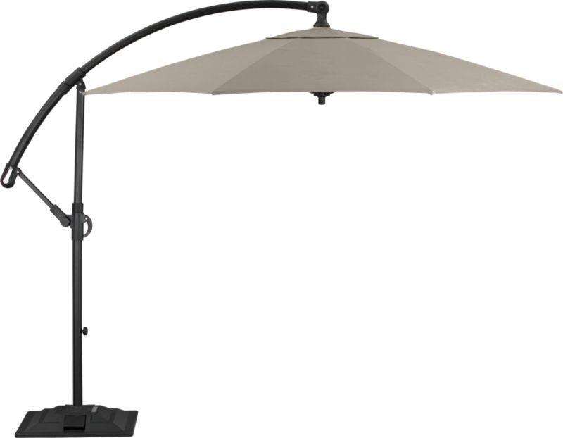 10 Round Sunbrella Stone Free Arm Umbrella With Base Crate And Barrel 900 Outdoor Patio Umbrellas Patio Umbrella Patio Umbrellas