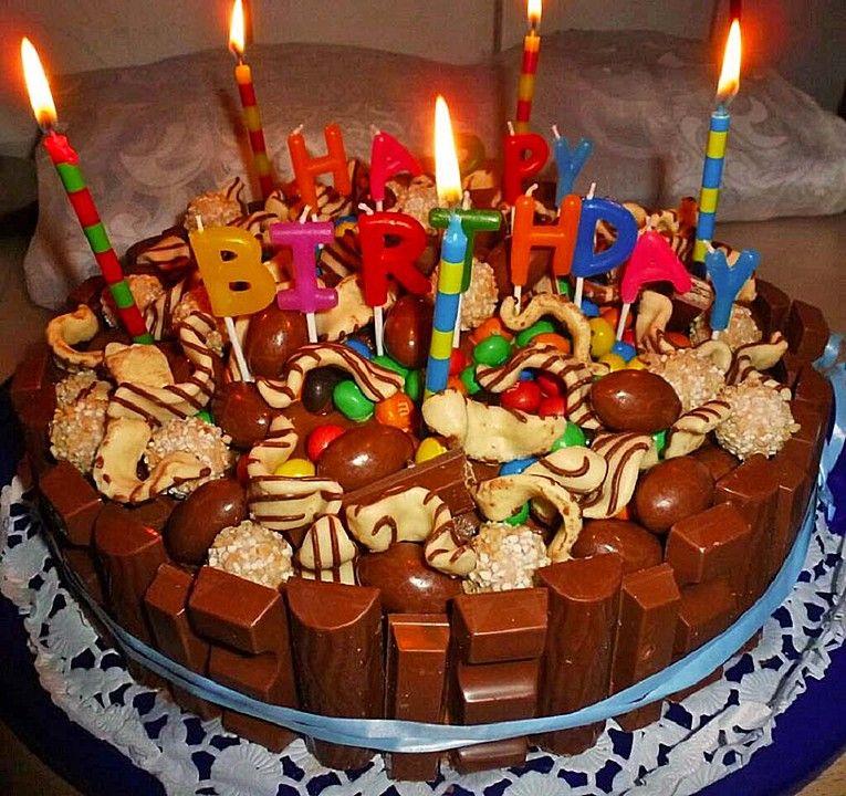 Candy Cake Ein Amerikanischer Kuchen Mit Sussigkeiten Susses