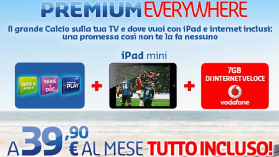 Mediaset Premium Everywhere: 39,90 tutto incluso