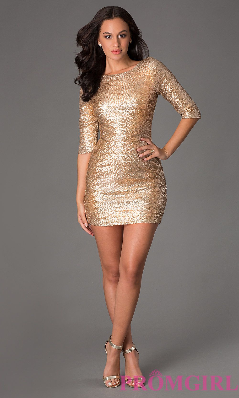The Perfect Gold Dress, Add Some Black Tights and Black Heels. It\'ll ...