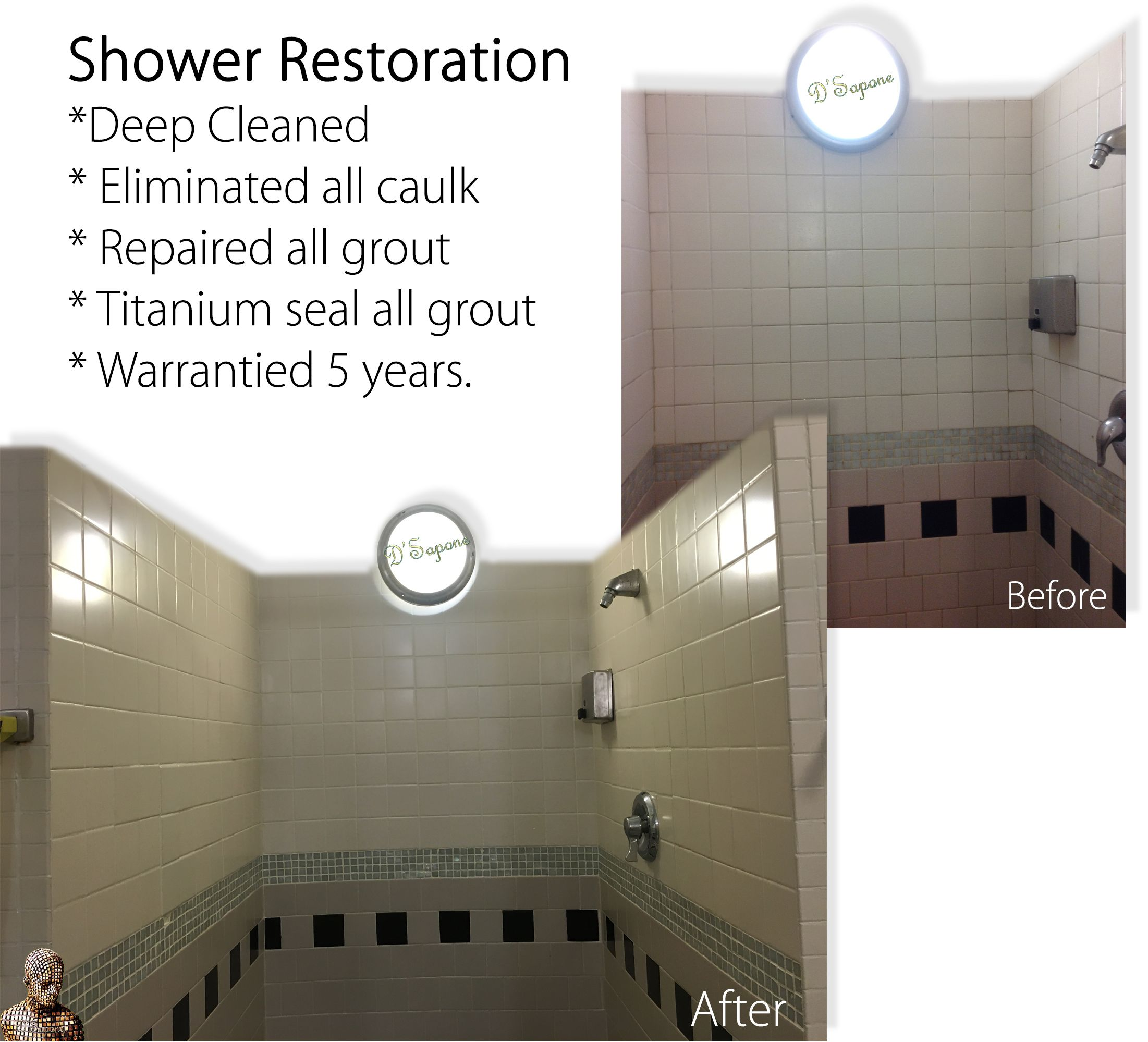 Notice in the image, how clean and sanitized the shower is after our ...