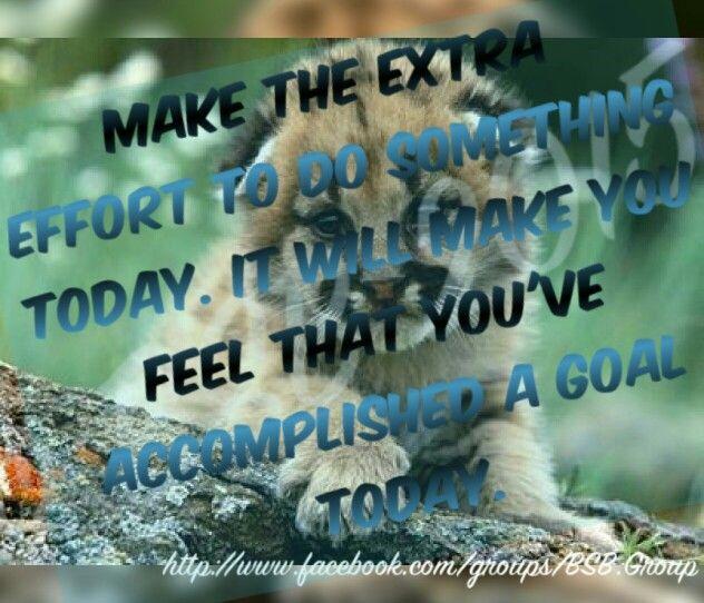 Make the extra effort