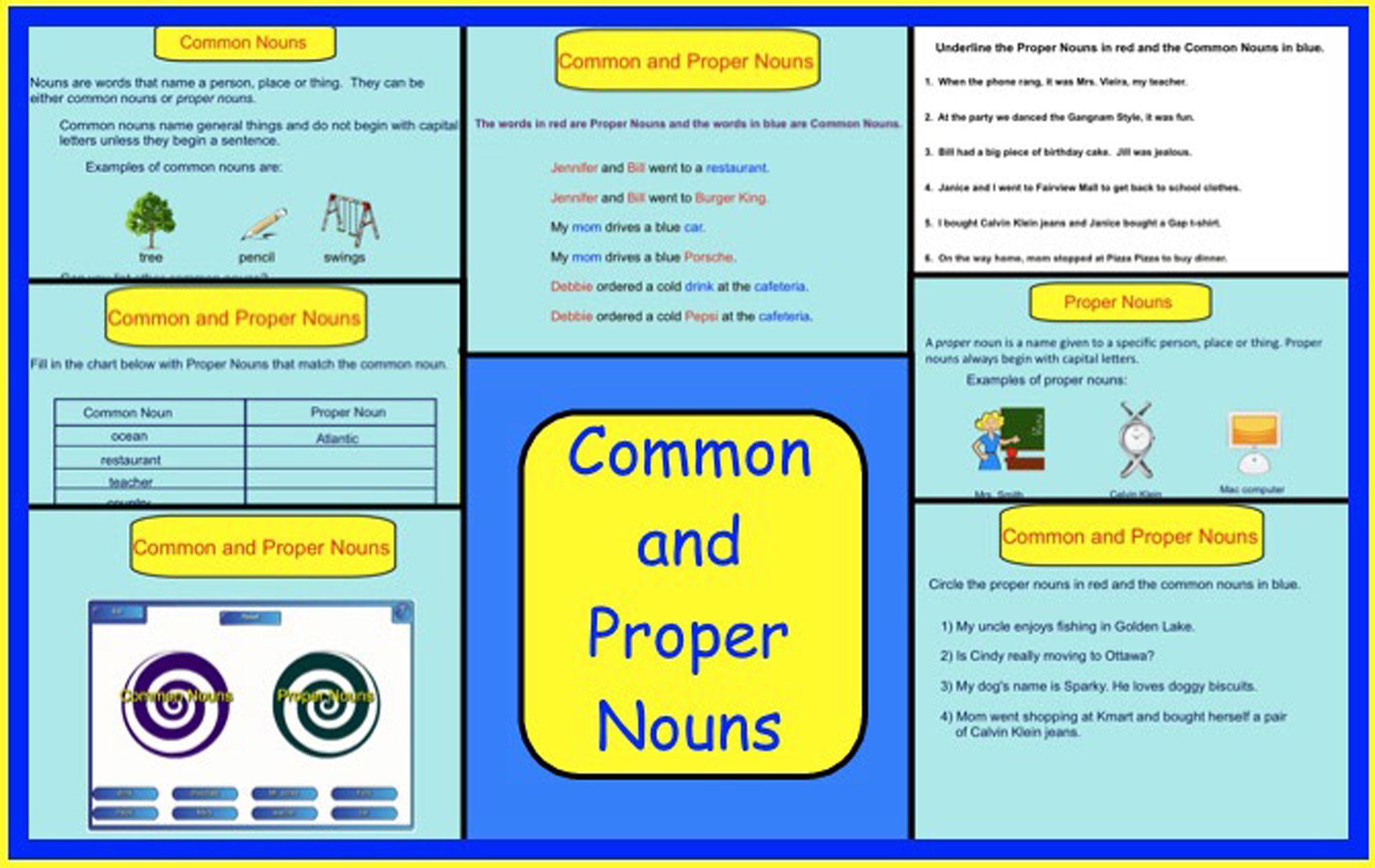 Smartboard Common Nouns And Proper Nouns