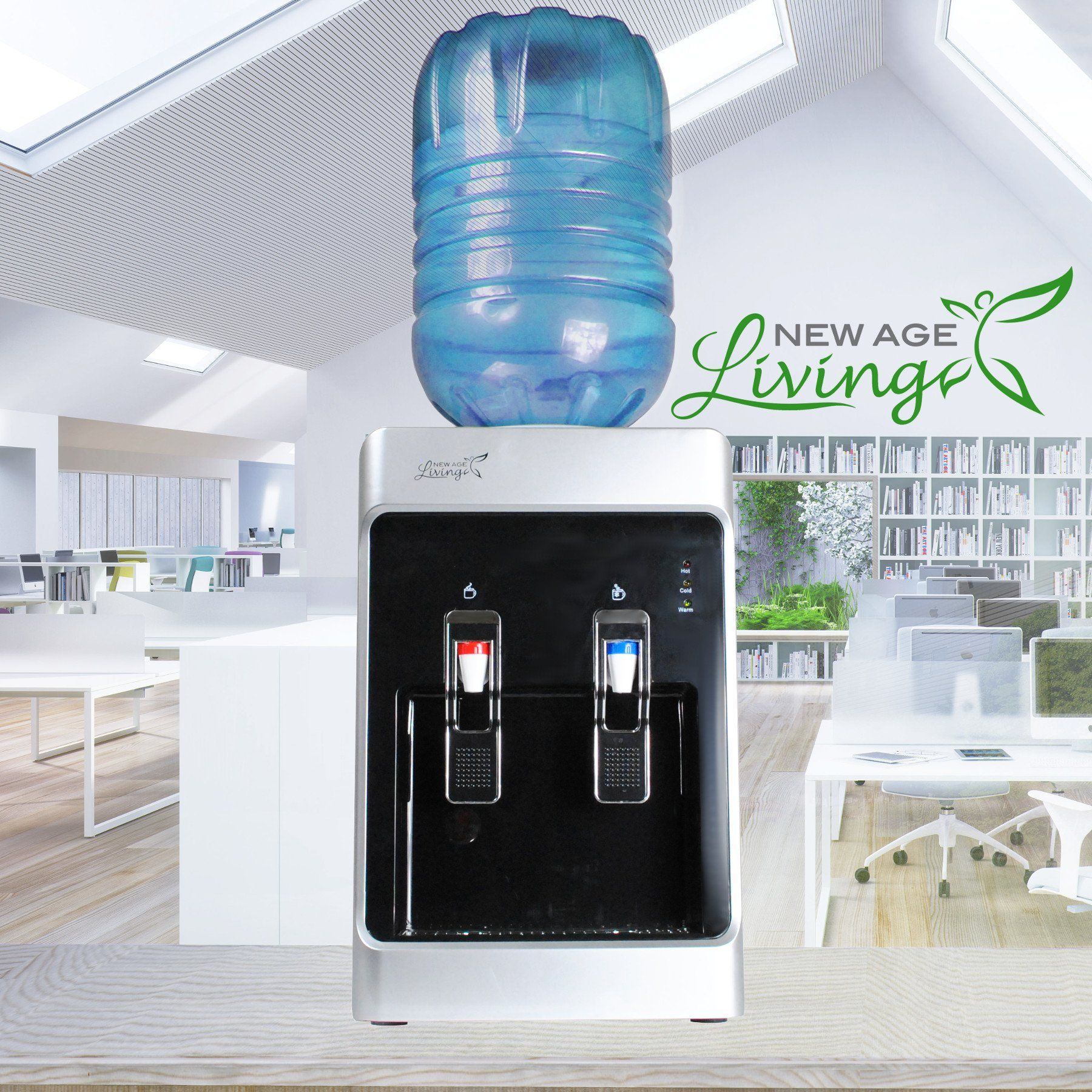 New Age Living 5 Gallon Desktop Cold Waterdispenser Water