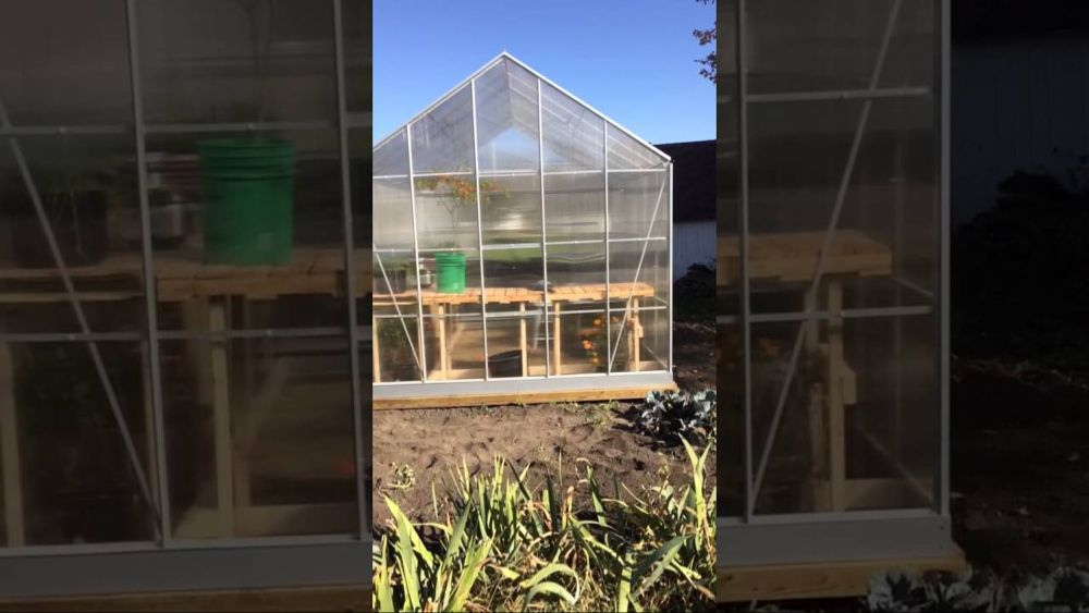 Harbor Freight 10x12 Greenhouse Youtube Greenhouse Greenhouse Growing Harbor