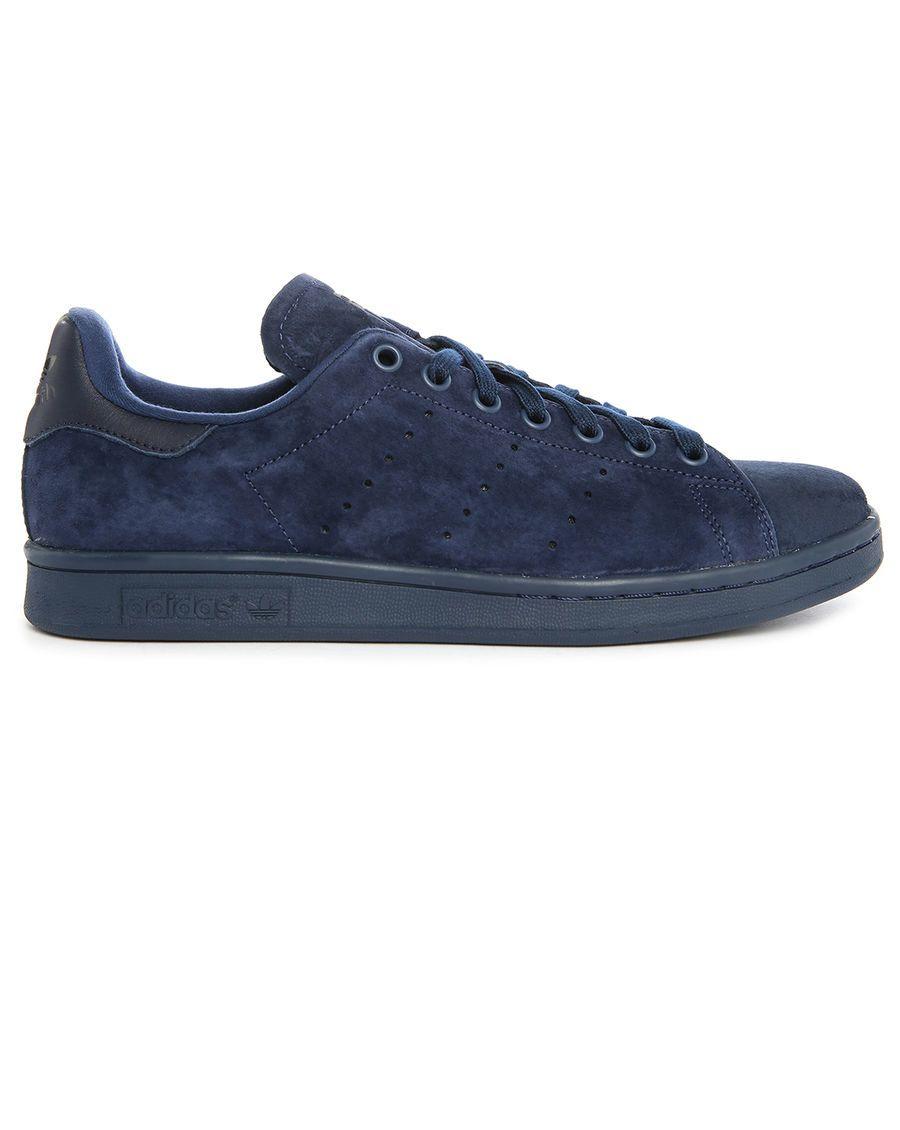 adidas originali stan smith mono azzurre, formatori di mezzanotte