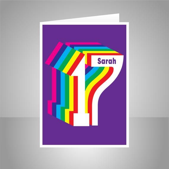 Personalised 17th Birthday Card For Boy For Girl, Edit