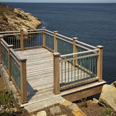 Best Cliff Deck Copper Mahogany Ipe Handrails Design Pictures Remodel Decor And Ideas Decks 400 x 300