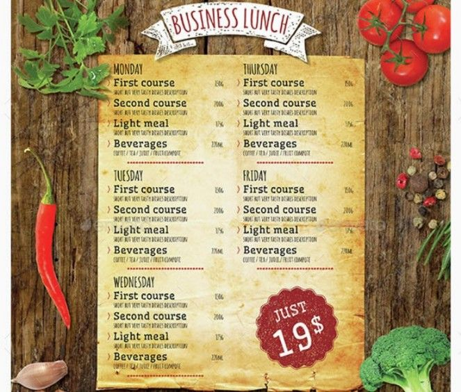 15+ Lunch Menu Template PSD, InDesign and EPS Format 15+ Lunch - lunch menu template free