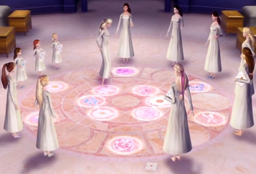 Barbie 12 Dancing Princesses Glowing Bedroom Floor Barbie 12 Dancing Princesses 12 Dancing Princesses Barbie Princess